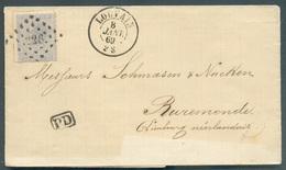 N°18 Obl. LP. 226 Sur Lettre De LOUVAIN Le 8 Janvier 1869 Vers Ruremonde.- 11955 - 1865-1866 Profil Gauche