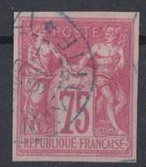 #120# COLONIES GENERALES N° 28 Oblitéré En Bleu Dzaoudzi (Mayotte)   LUXE - Sage