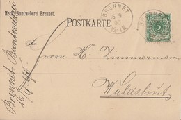 DR Karte EF Minr.46a Geprüft Brennet 15.9.90 - Deutschland
