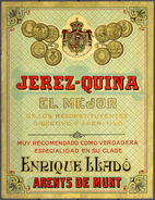 884 - Espagne - Jerez Quina El Mejor Reconstituyente Digestivo Y Aperitivo -  Enrique Llado ArenysTaille 116 Mm X 150 Mm - Etiquettes