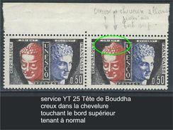 """Variétés Service YT 25 """" Tête De Bouddha """"  Voir Détail - Errors & Oddities"""