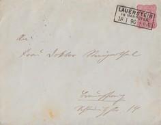 DR GS-Umschlag 10 Pfg. R3 Lauenstein In Hannover 18.1.90 - Briefe U. Dokumente