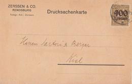 DR Karte EF Minr.300 Rendsburg 9.10.23 - Allemagne