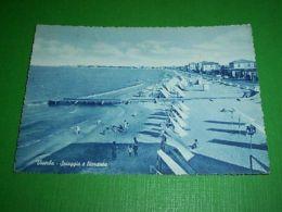 Cartolina Viserba - Spiaggia E Litoranea 1954 - Rimini