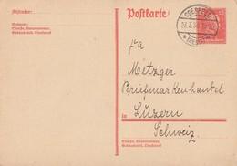 DR Ganzsache Minr.P171 Coesfeld 23.3.30 Gel. In Schweiz - Briefe U. Dokumente