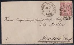 NDP Brief EF Minr.16 K1 Hamm I./ W. Bahnhof 31.7.71 - Norddeutscher Postbezirk