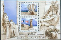 France 2017 - Emission Commune Canada, Mémorial De Vimy, 1ere Guerre Mondiale / Joint Canada, Vimy, World War I -  MNH - Prima Guerra Mondiale
