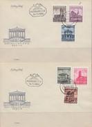 DDR 2 FDC Minr.491-496 Berlin 14.11.55 - Briefe U. Dokumente
