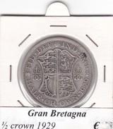 GRAN BRETAGNA   1/2 CROWN  ANNO 1929 COME DA FOTO - 1902-1971 : Monete Post-Vittoriane