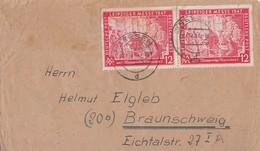Gemeina. Brief Mef Minr.2x 965 Seesen 27.12.47 Gel. Nach Braunschweig - Gemeinschaftsausgaben