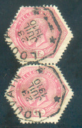 TG N°16(2) - 1Fr. Rose En Paire, Obl. Télégraphique De LOUVAIN ** 23 Juillet 1910 - 11967 - Télégraphes