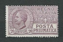 ITALIA 1925 - Posta Pneumatica - Vittorio Emanuele III - 20 C. Violetto Bruno - MH - Sa:PN 8 - 1900-44 Vittorio Emanuele III