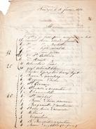 1852 - BOURGES (18) - HORTICULTURE - André VILNAT - Intéressante Commande De 400 Arbres Fruitiers Différents - - Documenti Storici