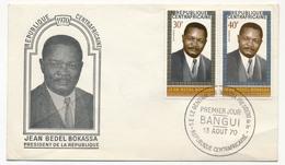 Rep CENTRAFRICAINE - FDC - S.E. Le Général Jean Bedel Bokassa, Président... - BANGUI - 1970 - Central African Republic