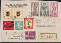 Berlin Brief Mif Minr.129,132-134, Bund 211,212-213,216,209 Berlin 16.5.56 - Briefe U. Dokumente