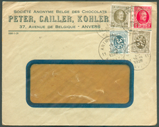 BELGIUM CHOCOLAT CHOCOLATE Env. Illustrates Peter CAILLER KOHLER Franked HOUYOUX Cancelled ANTWERPEN 11 To France - 1197 - Alimentation