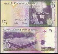 Tonga 5 Paanga 2009 P39 UNC - Tonga