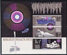 Malta 1971, 433/35 Block 1, Weihnachten,  MNH ** - Malta