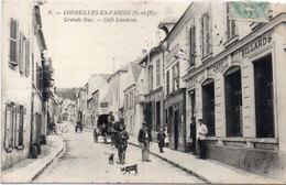 CORMEILLES EN PARISIS - Grande Rue - Café Landron - Attelage   (97314) - Cormeilles En Parisis