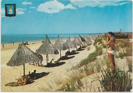 ALGARVE, Portugal, Praia Verde Beach, 1968 Used Postcard [20146] - Faro