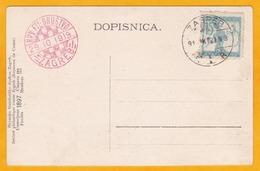 1919 - CP Commémorative 1e Exposition Philatélique Croate De Zagreb - Croatie - Oblitération Spéciale - Croatie