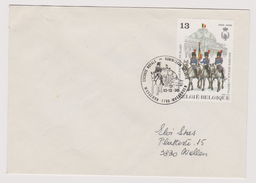 Enveloppe Brief Cover 1er Jour 2308 Escorte Royale Koninklijk Escorte Mouscron Moeskroen - Belgique