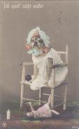 Verkleideter Hund Mit Puppe - Handcol. - 1914            (P-46-10418) - Chiens