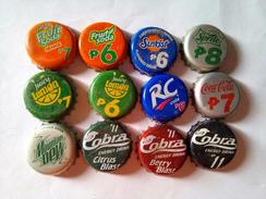 Philippines 12 Different Bottle Caps - Limonade