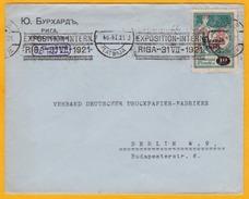 1921 - Enveloppe De Riga, Lettonie Vers Berlin, Allemagne - Oblitération Mécanique Spéciale Exposition Internationale - Letland
