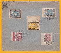 1920 - Enveloppe De Reval, Tallin, Estonie Vers Vienne, Autriche - Affrt Multicolore Timbres Non Dentelés - Estonie