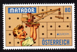 ÖSTERREICH 2015 ** EUROPA Matador / Altes Spielzeug -  MNH - Kind & Jugend