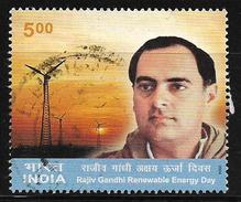 India 2004 Rajiv Gandhi Renewable Energy Day Used Stamp # AR:53 - India