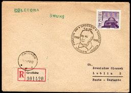 POLEN 1966 - Schlesisches Planetarium In Kattowitz - Sonderstempel,  Reko Brief - Astronomie