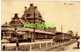 ATH - La Gare - 1938 - Locomotive à Vapeur, Train - Ath