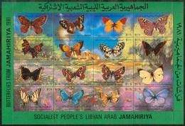 1981 Libia Libya Farfalle Butterflies Papillons Set MNH** - Libya