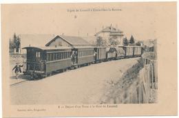 LUXEUIL - Départ D'un Tram à La Gare - Luxeuil Les Bains