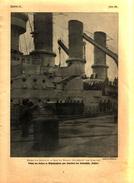 """Besuch Des Kaisers In Wilhelmshaven Zum Stapellauf Des Linienschffs """"Nassau""""/ Druck,entnommen Aus Zeitschrift/1908 - Livres, BD, Revues"""