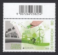ÖSTERREICH 2016 ** Umweltbewußtsein Leben EUROPA 2016 / Think Green - MNH - Umweltschutz Und Klima