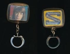 Porte-clefs Clé Clefs - Publicité - Années 60 - Teinturerie Blanchisserie Nettoyage - Françoise Hardy - Porte-clefs