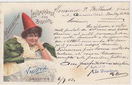 Manufacture Lausannoise Des Biscuits Vallotton - Litho Pubbl. Avec Signature Du Directeur - 1903          (P-46-50201) - VD Vaud