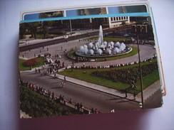 Marokko Morocco Maroc Casablanca Place Des Nations Unie Et Fontaine - Casablanca