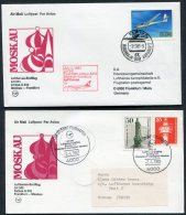 1983 Russia Germany Lufthansa First Flights (2) Moscow / Frankfurt - 1923-1991 USSR