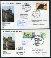 1984 Russia Germany Lufthansa First Flights (2) Leningrad / Munich - Covers & Documents