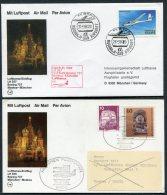 1984 Russia Germany Lufthansa First Flights (2) Moscow / Munich - 1923-1991 UdSSR