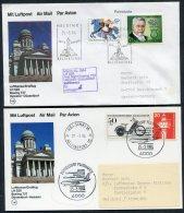 1984 Finland Germany Lufthansa First Flights (2) Helsinki / Dusseldorf - Airmail