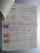 LAURENT Frères Boussu-Lez-Mons ( Filatures, Corderies & Cableries ) Anno 1929 ( Factuur + Reçu ( Tax ) ! - Belgium