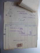 O. ENGLEBERT Fils & C° Liège ( Gravier / Frasnes ) Anno 1925 ( Factuur + Reçu ( Tax ) ! - Belgium