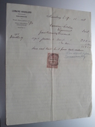LEMAIRE - BOURLARD Mariembourg ( Industriel ) Anno 1923 ( Factuur ( Tax ) ! - Belgium