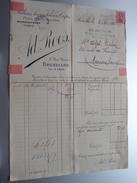 Ad. ROOS & Cie Bruxelles Tél A 5896 ( Fleurs, Plumes, Dentelles ) > Mariembourg Anno 1919 ( Factuur ) ! - Belgium