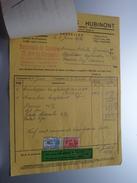 Etab. HUBINONT Bruxelles ( Spéc. Automobiles ) > Gravier Frasnes Anno 1930 ( Factuur + Reçu ( Tax ) ) ! - Transport